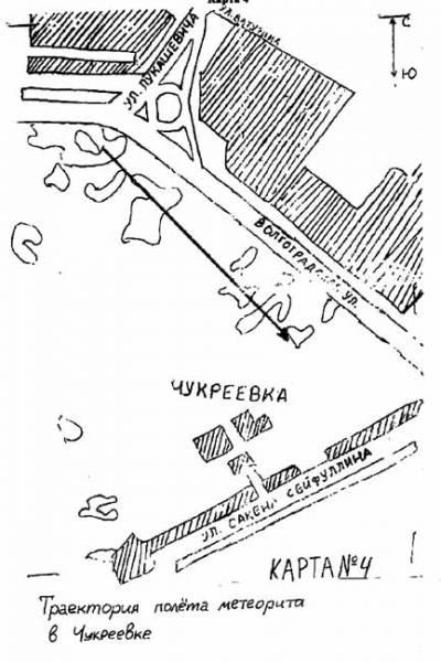 Схема падения Чукреевских